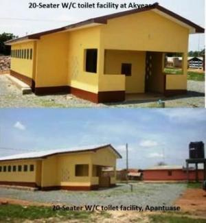 2.N0 20-Seater Water Closet Toilet Facility, Ntotroso